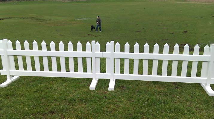 Temporary Picket Fence 6ft Wide X 3ft High
